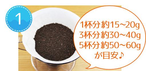 おいしいアイスコーヒーの淹れ方 ※作り方は一例です。